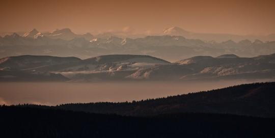 Mt Blanc z Schwarzwaldu